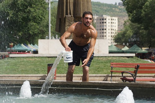 Getting wet in Yerevan