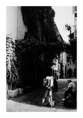 (idasalminen) Tags: trastevere rome street italy bw film filmphotography canoneos500n kodaktmax400
