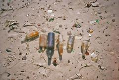 Dead Horse Bay Bottles (DoubleBen) Tags: yashica j expired fujicolor superia xtra 400 dead horse bay bottles glass riis beach jaccob tilden rockaways fort nyc