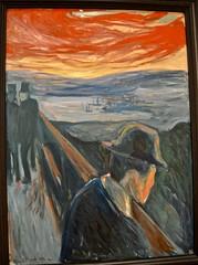 """Sick Mood at Sunset. Despair."", ""Between the Clock and the Bed"", ""Edvard Munch"", ""Despair"", exhibit, MOMA, San Francisco (David McSpadden) Tags: between clock bed despair edvard munch exhibit moma sanfrancisco"