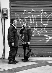 Problem solving (rojasdoyharcabal) Tags: people chile arica street streetlife capturestreet city blackandwhite blancoynegro gente wall portrait robado problem