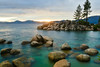 Sand Harbor Sunset (Christopher Wallace) Tags: water sea beach landscape seascape sunset dusk bluehour laketahoe nevada blue sandharbor nevadaside lake tahoe rocks boulders trees clouds mountains cloudy colorful inspiring beautiful beauty gorgeous amazing pretty breathtaking nikon digital d500 18200mm 18200 clear transparent beacheslandscapes
