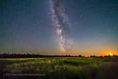 Milky Way at Moonset in Cypress Hills (Amazing Sky Photography) Tags: alberta cypresshills darkhorse horseshoecanyon interprovincialpark milkyway moonset sagittarius darksky grass stars