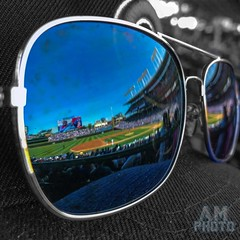 Fun in the Sun at Wrigley (andy_masur) Tags: majorleaguebaseball baseball chicagocubs wrigleyfield chicago green grass ivy sunglasses reflections