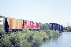 GB&W C430 #315 at Wisconsin Rapids on 5-22-76 (LE_Irvin) Tags: c424 c430 gbw wisconsinrapids