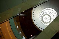 Dubai Mall (Marian Pollock (Weiler)) Tags: dubai mall architecture escalator skylight dome abstract angles light