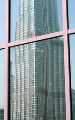 dubai reflected (kexi) Tags: dubai glass window reflection reflected architecture modern skyscraper vertical burjkhalifa september 2016 samsung wb690 pink blue