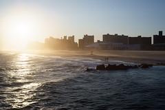 Windy (dtanist) Tags: nyc newyork newyorkcity new york city sony a7 konica hexanon 40mm coney island sea steeplechase pier beach shore sand wind windy waves