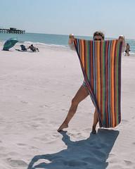 58. (jspic3) Tags: girl towel florida beginner nikon d7000 red orange yellow green beach sand pier friend