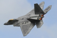 (scobie56) Tags: lockheed martin f22 raptor 1st fighter wing virginia air combat command langley afb hampton demonstration demo team major daniel rock dickinson riat royal international tattoo fairford 2017