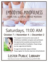 Embodying Mindfulness (Lester Public Library) Tags: 365libs lesterpubliclibrary lpl librariesandlibrarians library libraries lesterpubliclibrarytworiverswisconsin libslibs publiclibrary publiclibraries libraryprogram tworiverswisconsin wisconsinlibraries readdiscoverconnectenrich
