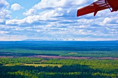 Alaska Range from about 70 miles out. (Herculeus.) Tags: aerial airplanesandhelicopters ak alaskanrange clouds country day forest glaciers landscape landscapes mountains mtdenaliak outdoor outdoors outside peaks propellerplanes shadows skiplanetrip spring talkeetna trees