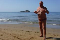 Thumbs Up - North Beach Arillas (pj's memories) Tags: greece arillas gravia seaside speedos kiniki tanthru trunks slip speedo thumbsup beach