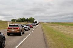 Arrival on US/Canada Custom Border (daveynin) Tags: border custom usa canada plains grasslands alberta