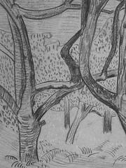 SERUSIER Paul - Le Verger (Louvre RF40965-Recto) - Detail 13 (L'art au présent) Tags: details détail détails detalles drawings dessins croquis étude study studies sketch sketches dessins19e 19thcenturydrawings dessinfrançais frenchdrawings peintresfrançais frenchpainters louvre paris france musée museum arbres tree trees trunk orchard grove nature