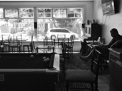 Sit down and play pool with me (doubleshotblog) Tags: pubsadness pub lonely alone pool blackandwhite bw theroyalmailhotel kingstonse southaustralia australianpub