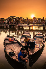 Thu Bon River, Hoi An (syukaery) Tags: hoian danang vietnam asia asian southeastasia river city oldtown people dailylife travel sunset nikon d750 nikkor 24mm indochina boats