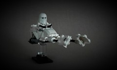 Hoth speeder bike (adde51) Tags: lego adde51 moc starwars star wars hoth speeder bike foitsop stormtrooper snowtrooper shields shield snow white