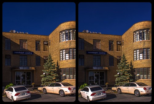 Art Deco achitecture in Sudbury 3-D / CrossEye / Stereoscopy / HDR / Raw