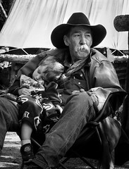 Clayton (nevadoyerupaja) Tags: windriverrange summer wyoming climbing usa wilderness mountain child love kid granddad granda grandfather grandson care burture cowboy relax protect guardian hat boots nap sleep sleeping rest camp horse outfitter legendary legend home mountains