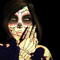Los Muertos (Saori Rotaru (SL Name)) Tags: facetattoo taox zenith mexico diadelosmuertos bentohead head photograph photo sl secondlife