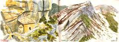 170716 Vallée du Jabron (Vincent Desplanche) Tags: sketching sketch sketchbook croquis watercolor aquarelle carandache neocolor neocolorii urbansketchers jabron valleedujabron sisteron sketchingmountains mountains montagne
