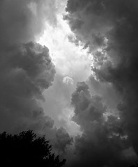 summer rains (sephrocker) Tags: nature iphonese clouds blackandwhite monochromatic storm rain weather sky