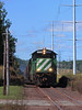 Coming down the Hill (GLC 392) Tags: lsi lake superior ishpeming railroad railway train ge u30c 3008 3000 blue sky cloud presque isle mi michigan marquette iron ore u boat west yard green locomotive signal mast