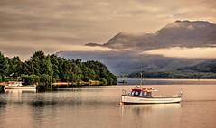 Misty Ben Lomond (Phelan (Shutter Clickin) Goodman) Tags: luss loch lomond argyll scotland mist clouds ben mountain calm reflection