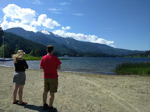 Gazing out at Alta Lake