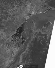 Parte do Reservatório de Sobradinho (barragem / dam), no Rio São Francisco, Remanso/BA (Coordenação-Geral de Observação da Terra/INPE ) Tags: sobradinho riosãofrancisco remanso bahia brasil brazil cbers4 pan inpe