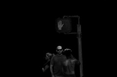 Bad Guy   !!!!!!!!!!!!!!! (imagejoe) Tags: vegas nevada street strip black white photography photos shadows people nikon reflections