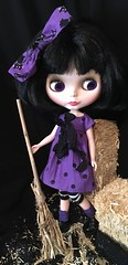 This Little Witch Is Ready To Fly...Halloween For Blythe...