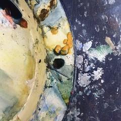 The artist's palette (Caroline Oades) Tags: mobiography blobs beauty art colour palette watercolour artist ruperthead england westsussex chichester chilgrove sketchbookworkshop nicolahancockart