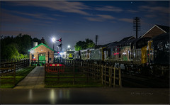 Preserving The Night. (-Metal-M1KE-) Tags: gcr greatcentralrailway greatcentralrailwayloughborough 37714 sparrowhawk lowlight lowlightphotography