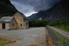 Trollveggen station (DoctorMP) Tags: norwegia norway norge moreogromsdal góry lato summer mountains romsdal trollveggen kolej stacja dworzec tor railway track station