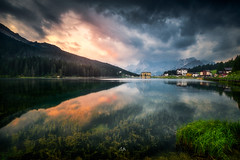 Lago di Misurina...Morning (Croosterpix) Tags: lake morning sunrise nature landscape alps dolomiti dolomites lago italy travel clouds sky mountains reflection colors sony a7r nikkor1835 nisi filter