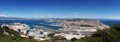 Gibraltar Airport 1/3 - Panorama from Upper Rock (FH | Photography) Tags: gibraltar flughafen airport landebahn runway winstonchurchillavenue uk europa verkehr reise flugzeug transport luftverkehr upperrock lalineaddelaconception spain grenze eu südeuropa monarch tourismus infrastruktur panorama pano tag sommer stadt city cityairport urban skyline skyscraper hochhäuser aussicht abheben fliegen start wasser mittelmeer bucht buchtvonalgeciras stadtleben luftverschmutzung kerosin aviation gib lxgb hafen marina kreuzfahrt kreuzfahrtschiff umsteigen
