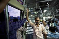 Hanging on (Mike Foo) Tags: india commuting streetphotography street train canon canon5dmark3 candid travel asia indian mumbai bombay city life ordinary people busy
