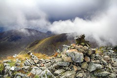 Chose the right hill (OutdoorMonkey) Tags: meallabhùiridh clachleathad rannochmoor cloud clouds summit peak mountain mountainside hill hillside outside outdoor countryside remote rural wild wilderness weather cairn rock
