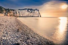 Waiting for a sunset (Sizun Eye (OFF for a while)) Tags: sunset beach cliffs etretat normandie france sizuneye nikond750 d750 1424mm nikon1424mmf28 nikkor nisifilters leefilters le longexposure lamanche sea