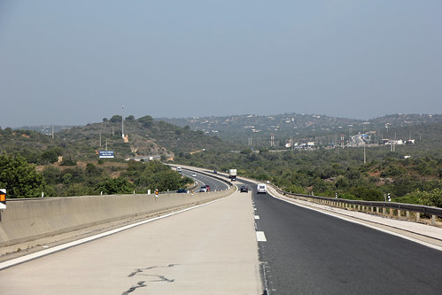 on the Highway A22 leading through the Algarve
