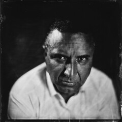 J. Portrait au Collodion Humide ([Eric OLIVIER]) Tags: portrait collodion humide alternativ process largeformat photography noiretblanc blackandwhiteargenticnotdead