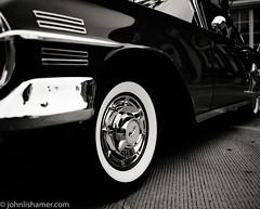 Whitewall (johnlishamer.com) Tags: 120 1960chevroletimpala 2017 6x7 bw chevy concoursdelegance fujiacros100 genevail ilfosol3 lishamer mamiyarb67prosd antique automobiles carshow classiccars film johnlishamercom mediumformat sportcoupe vintage