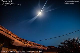 Tiangong 1 passing over Florida