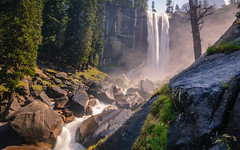 Misty Falls (PatrickPrager) Tags: yosemite yosemite2017 water waterfall vernal falls mist trail california landscape river long exposure forest trees travel