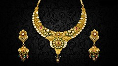 Gold-necklaces-set-for-woman-jewellery-wallpapers (HD wallpaper (Best HD Wallpaper)) Tags: jewellary design