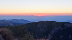 A young sun (cernicb) Tags: dawn morning daybreak fog mist sun sky mountain day hills peaks landscape sunrise