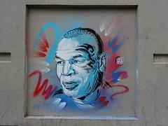 C215 : Mike Tyson (juillet 2017) (Archi & Philou) Tags: c215 pochoir stencil américain usa sport champion portrait homme miketyson tyson boxe paintedwall murpeint