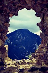 mountain view (pics by paula) Tags: mountains view landscape rocks window ruin chateau france europe picsbypaula paula wayne